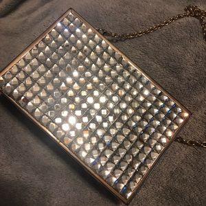 Handbags - Jeweled clutch/shoulder handbag